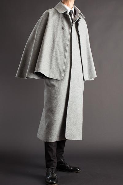とんびコート メルトンウール ミディアムグレー 125