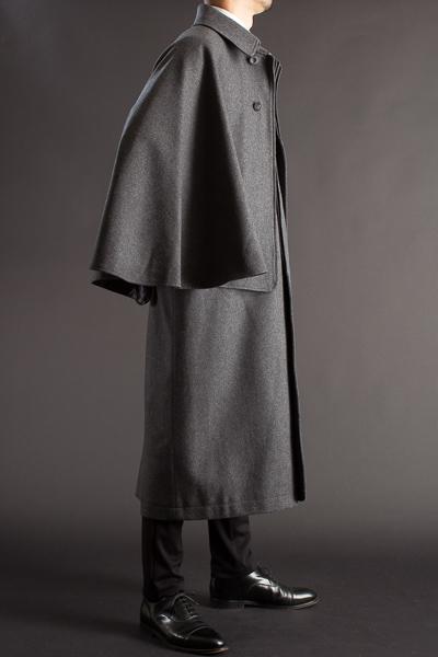 とんびコート メルトンウール チャコールグレー 125