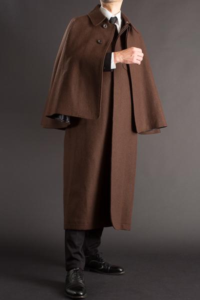 とんびコート メルトンウール ボルドーブラウン 125