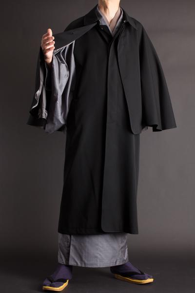 着丈の長いロングコート